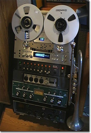 picture of Pioneer RT-901 with Teac, Sony, Altec and RCA mixers