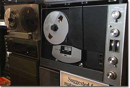 picture of Ampex 2100 & AX-300 reel tape recorders