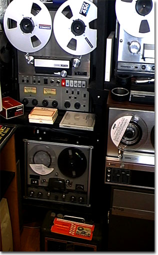 picture of the Ampex ATR-700 and 960 reel tape recorders