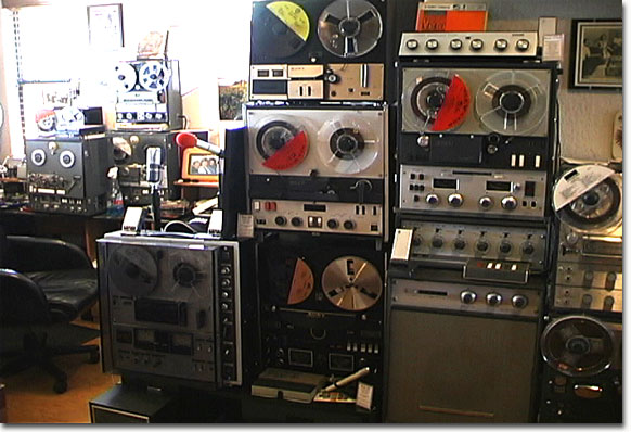 picture of Phantom's Sony reel tape recorders