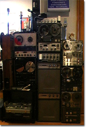 picture of Sony and Roberts reel recorders in Phantom museum